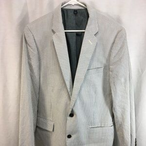 J Crew Blazer Jacket Suit Coat Searsucker